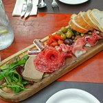 The charcuterie sharing plate