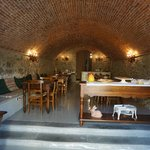 dining room which was an old wine cellar