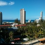 9th floor balcony view, Surfers Paradise Bvd & the ocean.