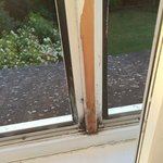 Broken window frame in our room