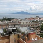 View of Mount Versuvius form roof top