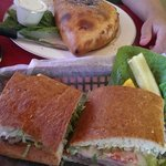 Huge sandwiches and calzones