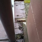 Rotting wood on balcony!