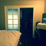 bedroom, through the door is another room about same size