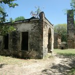 A sugar plantation at the bottom. Ruins in great shape