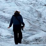 Walking on the glacier