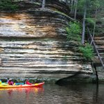 Kayak Tour - in front of the dell rock formations