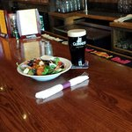Salad and a Guiness