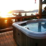 Hot tub and views can't be beat!