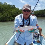 Bonefish caught on fly rod