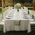 Dinner set up by Vara wedding