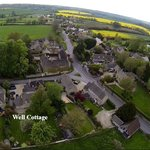 Well Cottage and Ewen Village From the Air