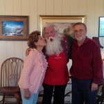 Mommy Kissing Santa Clause