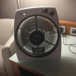 the electric fan the technician gave us.