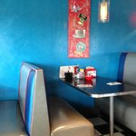 Inside decor of the diner