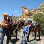 "Great Ride to ""Cowboy"" Rock through Awesome Canyon"