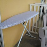 This is where we found the ironing board after checking into our room.