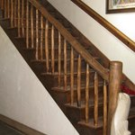 Stairs to the old hotel rooms, now store