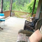 Front porch of the lodge...overlooks Rapid Creek
