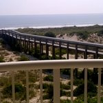 The easy access bridge from condo to beach