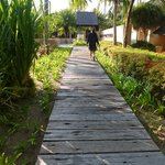 The pathways that leads from one villa to another...