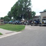 Our line up of cars visiting Days Inn Faribault, MN