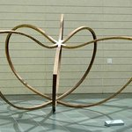 sculpture in lobby
