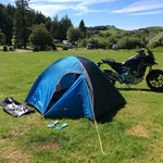 Camping off the bike at Woodlands