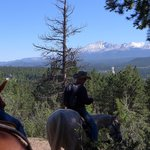 View of Pikes Peak on the Trail Ride