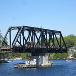 Swing bridge as you get back to Parry Sound harbour