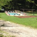 Pool and swing set