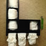 Towel display