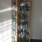 The collection of beer cans!