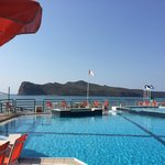 View from the pool at Ilianthos Village