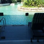 View from our private deck to the pool