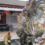 Dragon and fish fountain