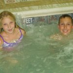Grandkids in the indoor pool