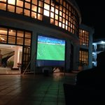 Outside Big Screen for World Cup