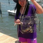 crabbing at the pier is fun!