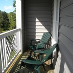 Large Balcony with 4 chair and 2 tables for 2 BR