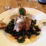 Pork Osso Bucco with spinch spatzel, Jalopena Popper