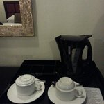Coffee and tea amenities, without coffee and tea :))
