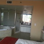 King size suite w/jacuzzi tub and full walk-in shower
