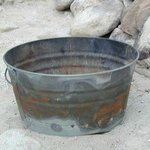 Steel bucket you need for campfires only allowed during low seaons (prior to mid-June)
