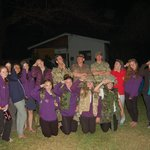Group photo with the British Army, who were helping to train the Malawian Army