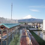 Mt Fuji from rooftop foot bath