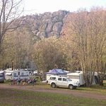View from the centre of the caravan park