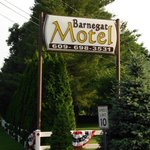 Vintage Barnegat Motel Sign, Nicely Maintained Lawns