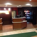 lobby - checkin desk and store (food, beer, wine, sodas)