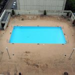 Closed outdoor pool